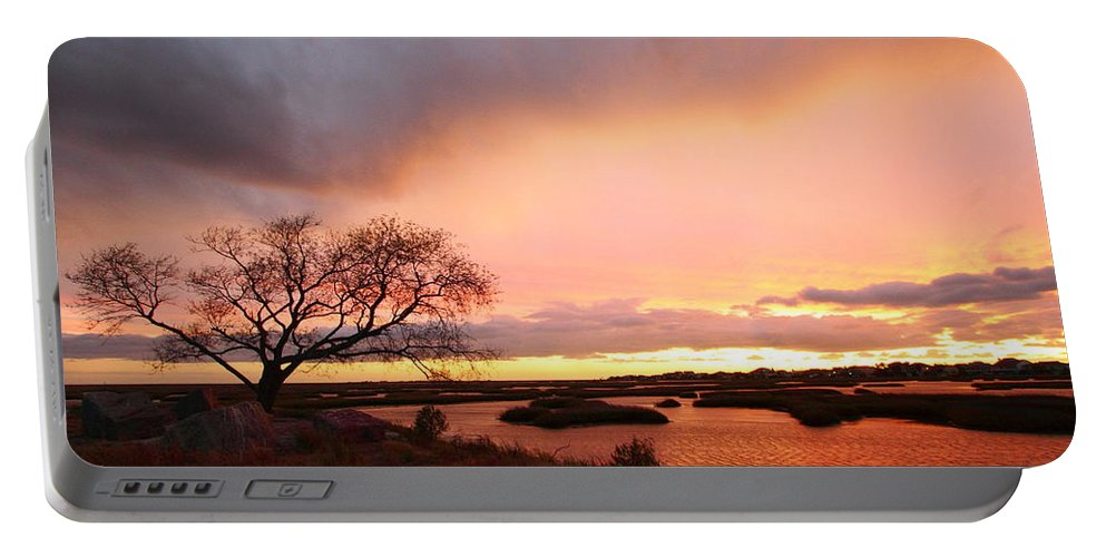 Galveston Portable Battery Charger featuring the photograph Storm At Dusk 2am-108350 by Andrew McInnes