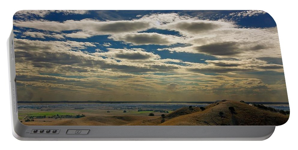 Australia Portable Battery Charger featuring the photograph Victoria Cattle Farm #3 by Stuart Litoff