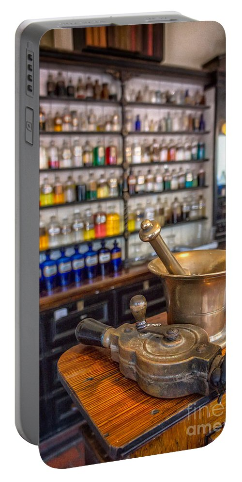 British Portable Battery Charger featuring the photograph Victorian Chemist Equipment by Adrian Evans