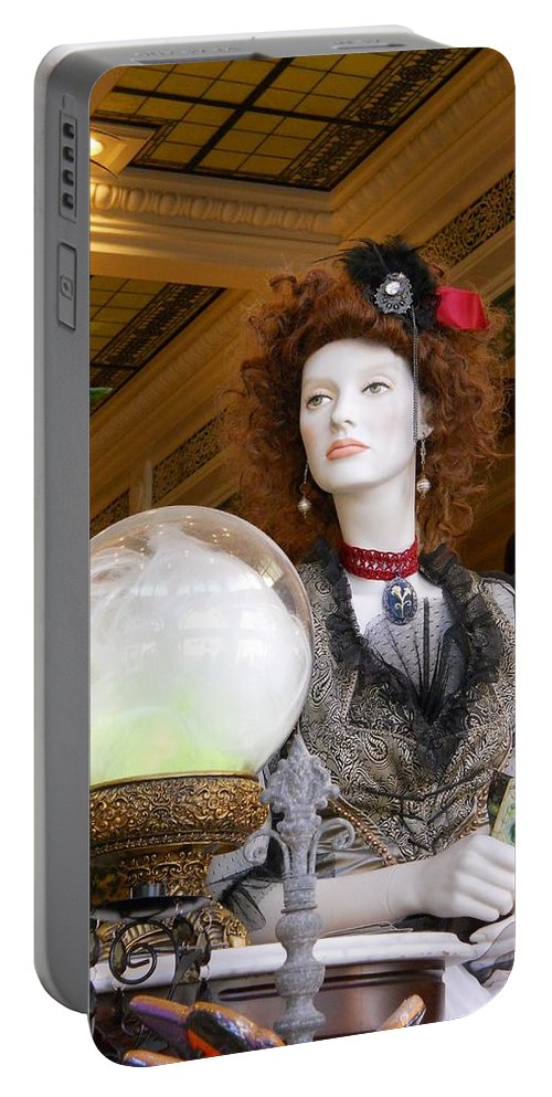 Fortune Teller Portable Battery Charger featuring the photograph Victorian Fortune Teller by Rachel Kaufmann