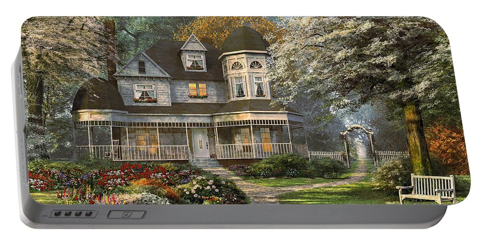 Victorian Portable Battery Charger featuring the digital art Victorian Home by Dominic Davison