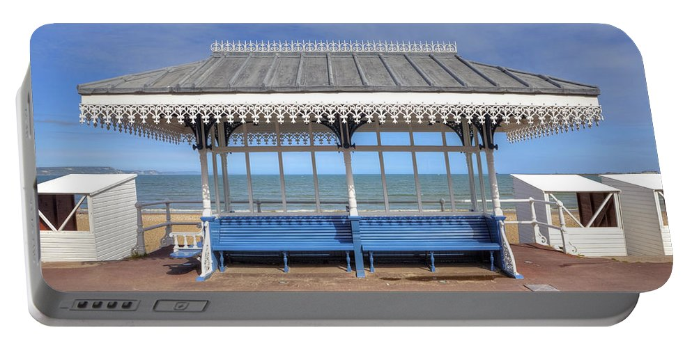 Victorian Portable Battery Charger featuring the photograph Victorian Shelter - Weymouth by Joana Kruse