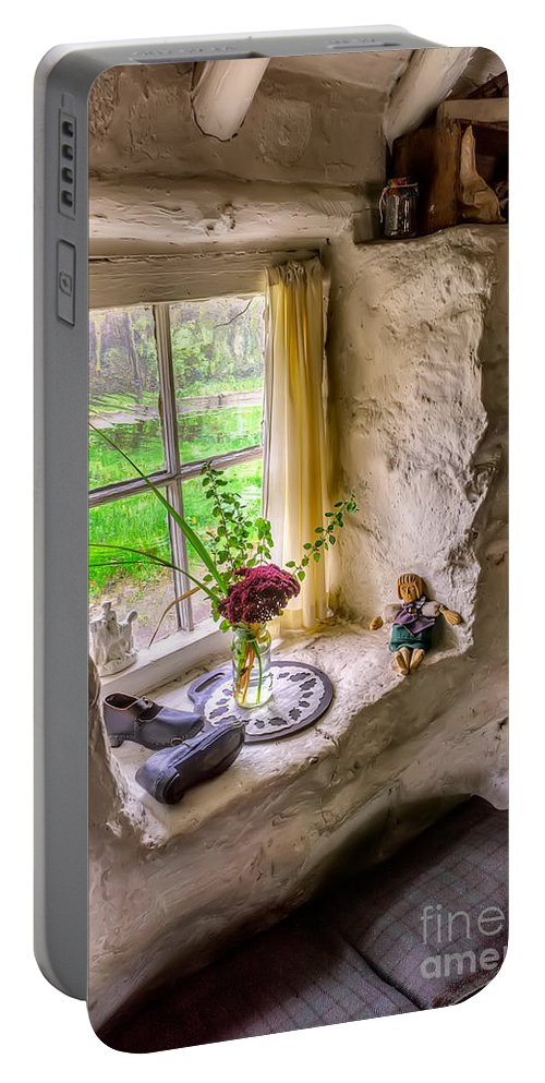 Architecture Portable Battery Charger featuring the photograph Victorian Window by Adrian Evans