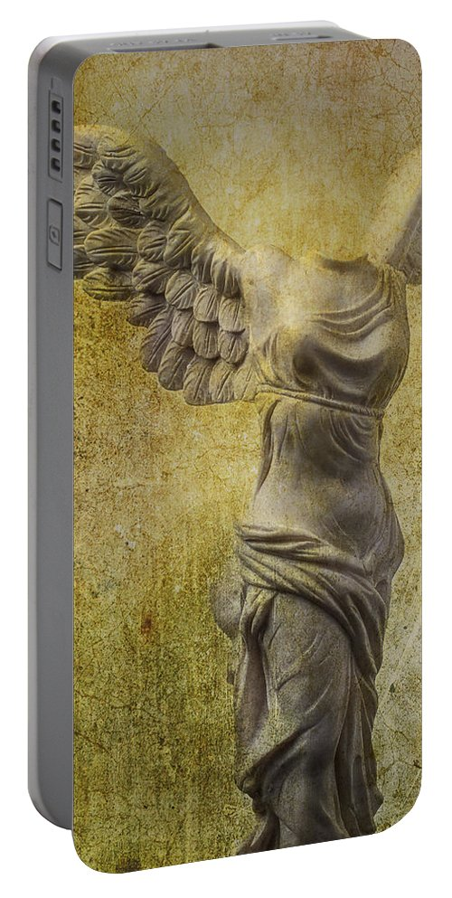 Winged Victory Portable Battery Charger featuring the photograph Victory Abstract by Garry Gay