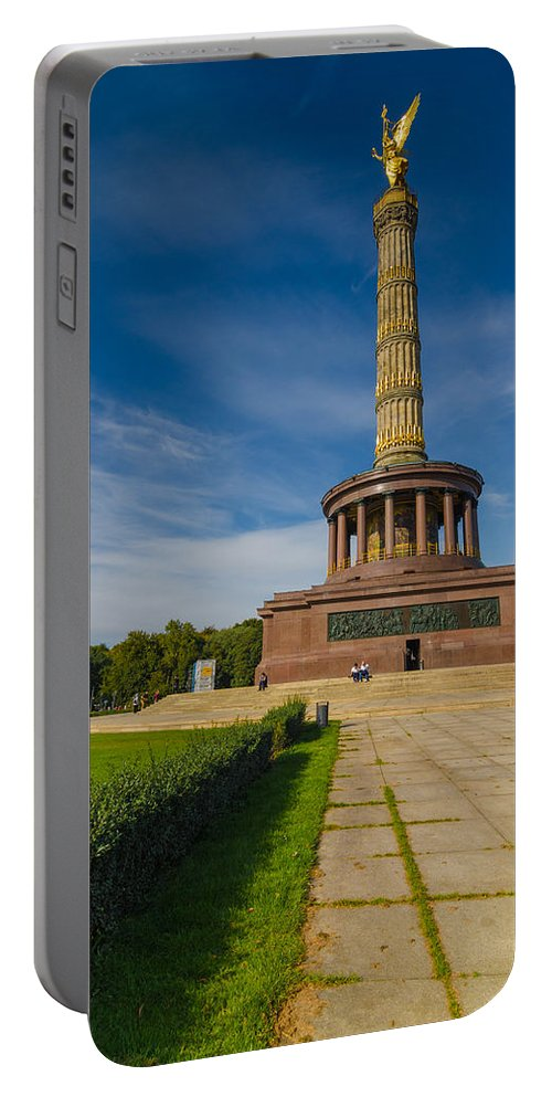 Siegessäule Portable Battery Charger featuring the photograph Victory Column by Jonah Anderson