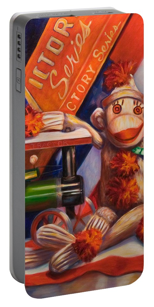 4th Of July Portable Battery Charger featuring the painting Victory by Shannon Grissom