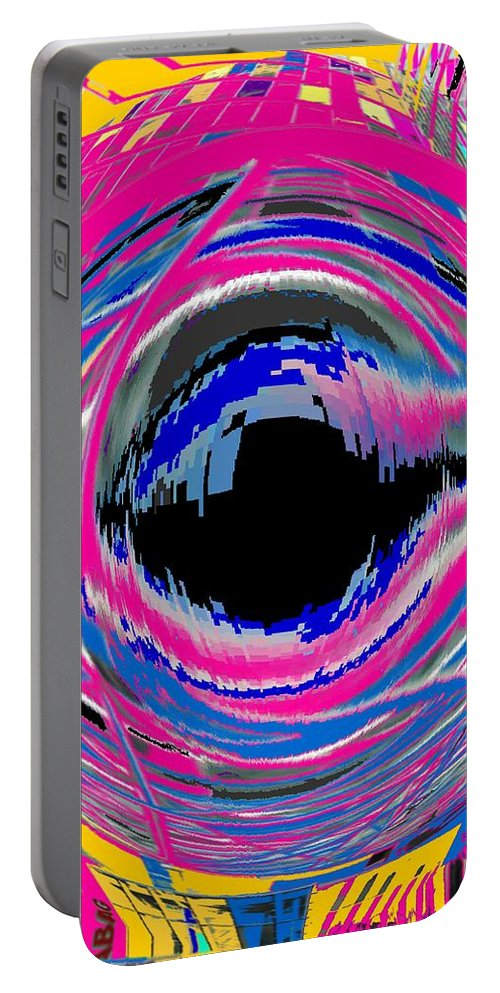 Abstract Portable Battery Charger featuring the photograph Vienna Modern by Ian MacDonald
