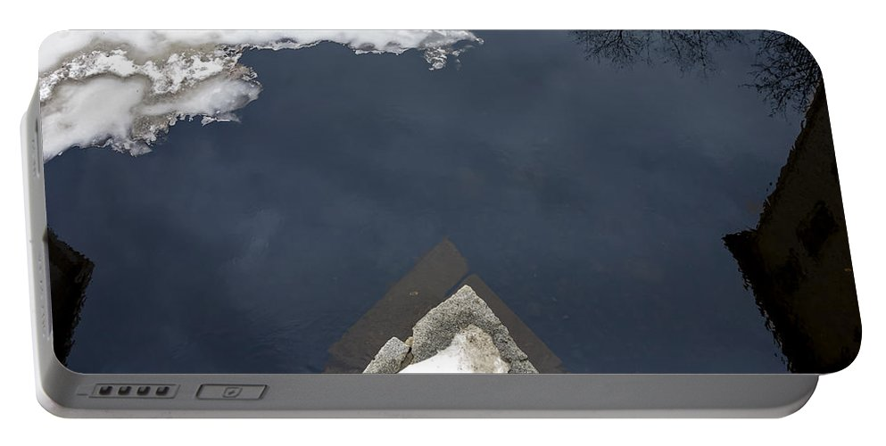 Bridge Portable Battery Charger featuring the photograph View From The Bridge by David Stone