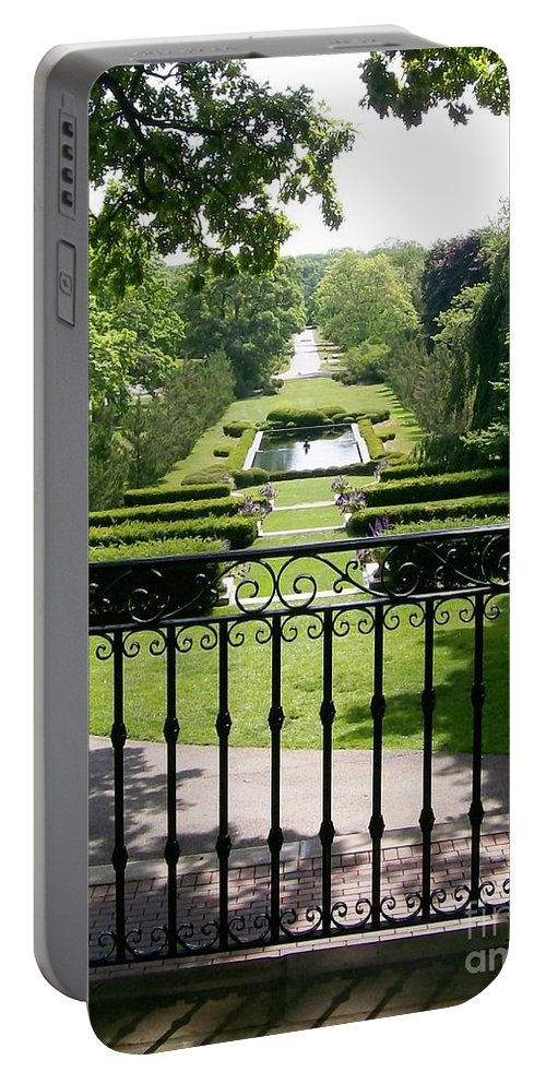 Cantigny Portable Battery Charger featuring the photograph View From The Jefferson Porch by Laurie Eve Loftin