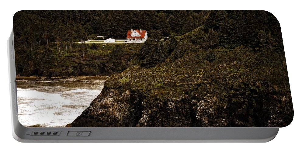 Heceta Head Portable Battery Charger featuring the photograph View From The Keeper's House by Image Takers Photography LLC - Laura Morgan