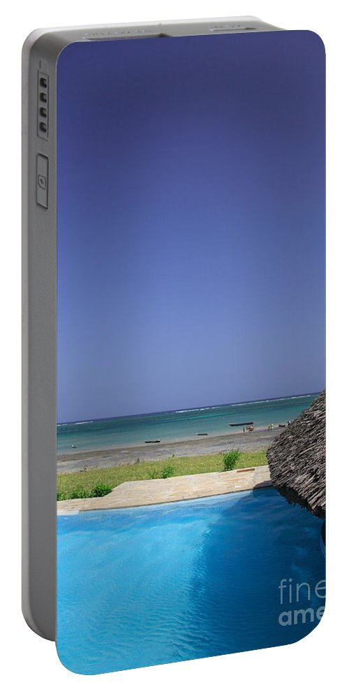 Africa Portable Battery Charger featuring the photograph View From The Pool by Deborah Benbrook