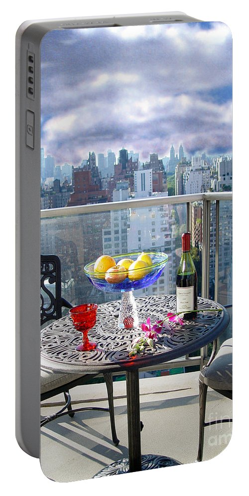 Terrace Portable Battery Charger featuring the photograph View From The Terrace by Madeline Ellis