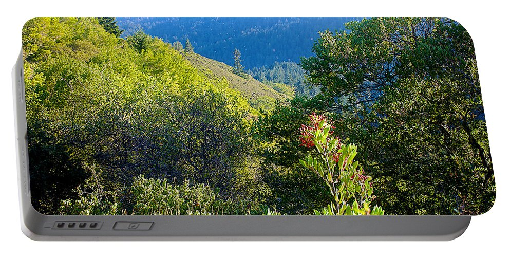 View From Trail To West Point Inn On Mount Tamalpias Portable Battery Charger featuring the photograph View From Trail To West Point Inn On Mount Tamalpais-california by Ruth Hager