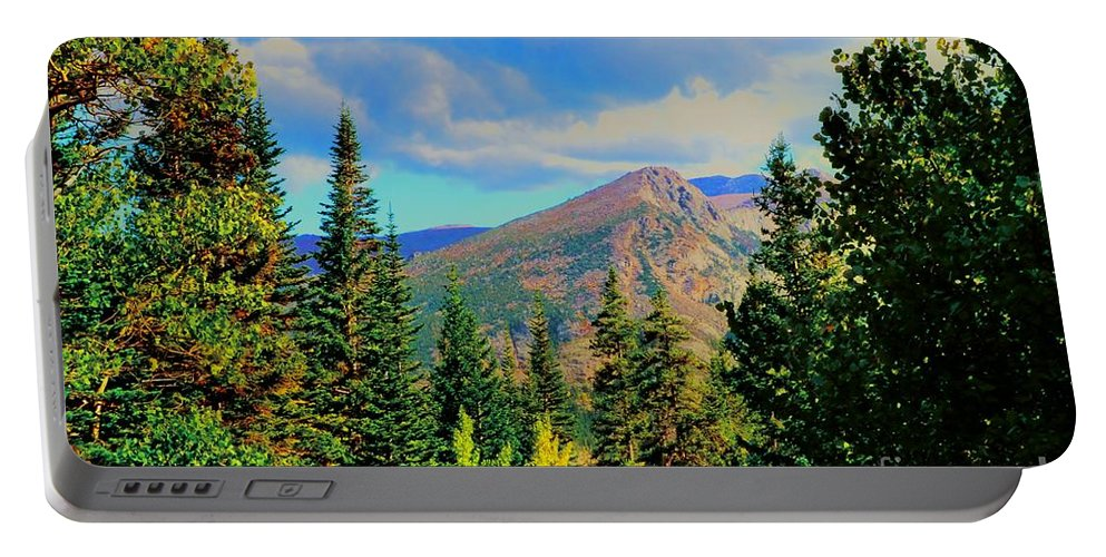 Blue Portable Battery Charger featuring the photograph View by Kathleen Struckle