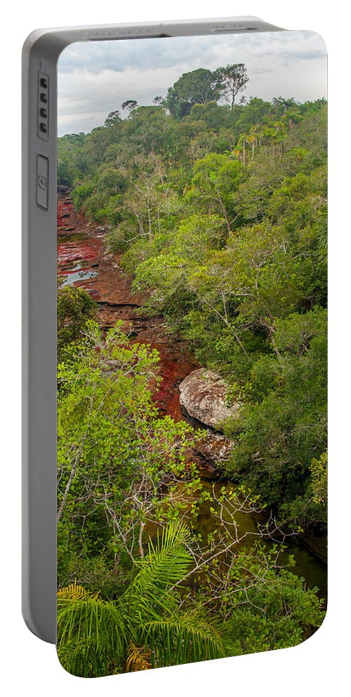 Cano Portable Battery Charger featuring the photograph View Of Cano Cristales In Colombia by Jess Kraft