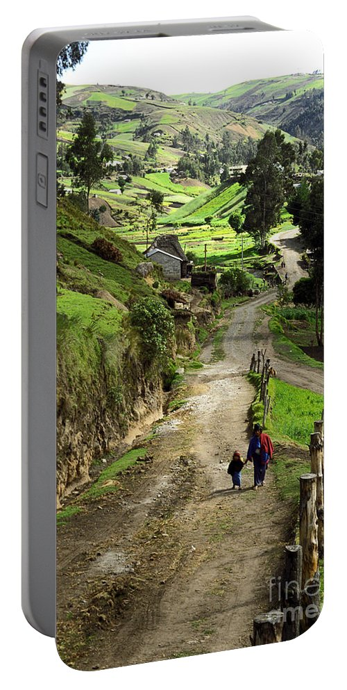 Ecuador Portable Battery Charger featuring the photograph View Of Lupaxi by Kathy McClure