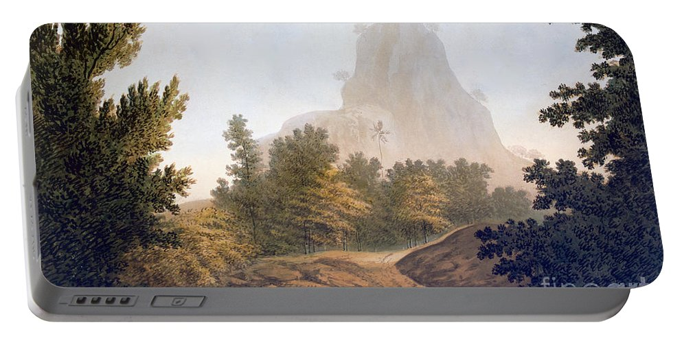 Landscape Portable Battery Charger featuring the painting View Of The Jungle by William Hodges