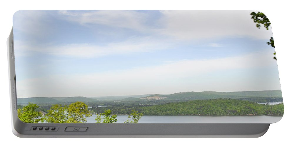 Alabama Portable Battery Charger featuring the photograph View Of The Mountains Of Alabama by Verana Stark