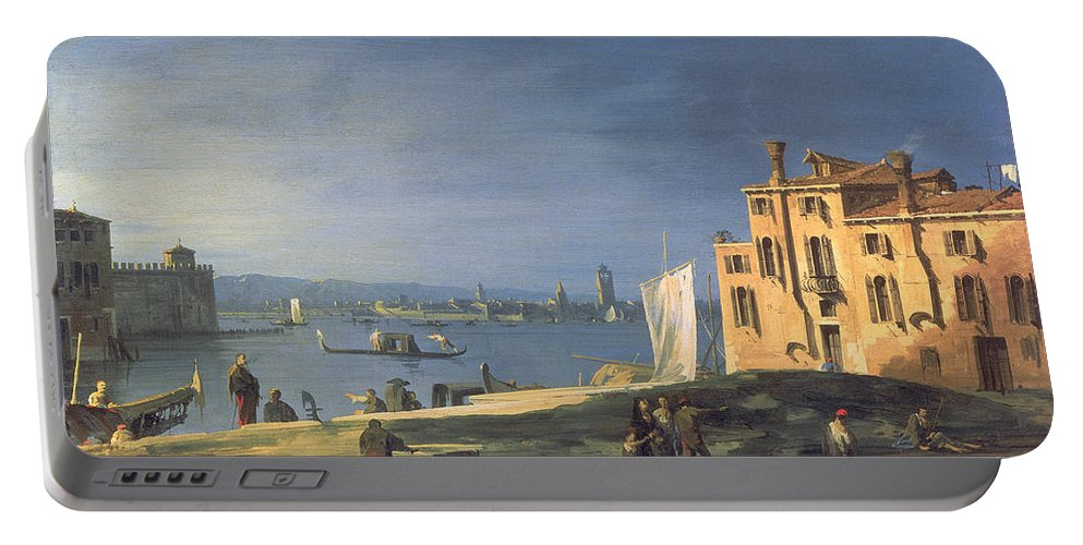 Landscape Portable Battery Charger featuring the painting View Of Venice by Canaletto