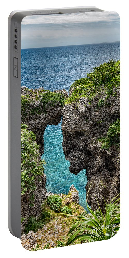 Christopher Holmes Photography Portable Battery Charger featuring the photograph View Through The Crack by Christopher Holmes