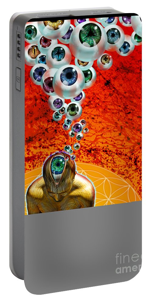 Viewing Portable Battery Charger featuring the digital art Viewing by Tony Koehl