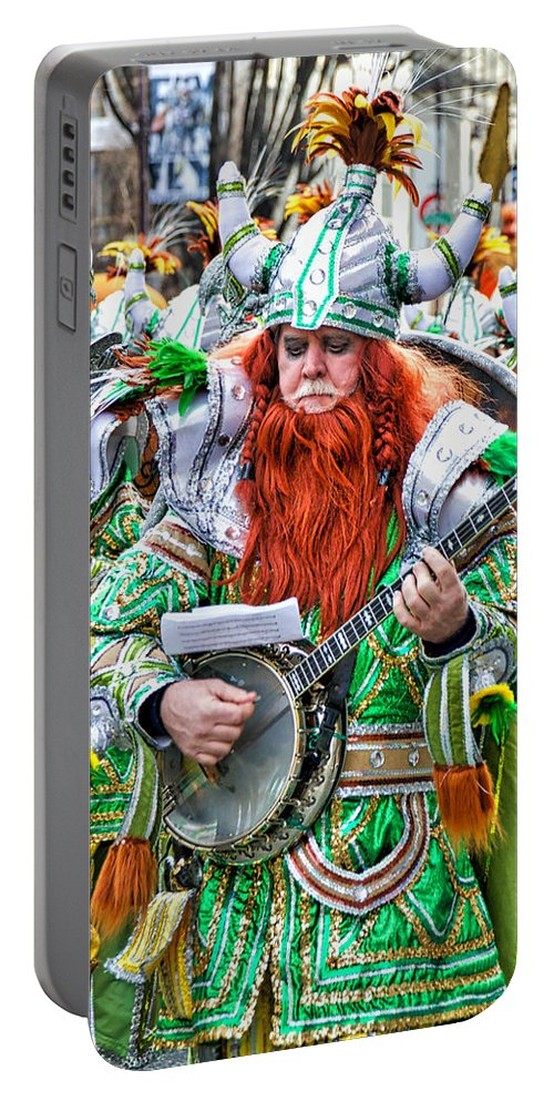 Mummer Portable Battery Charger featuring the photograph Viking Mummer by Alice Gipson