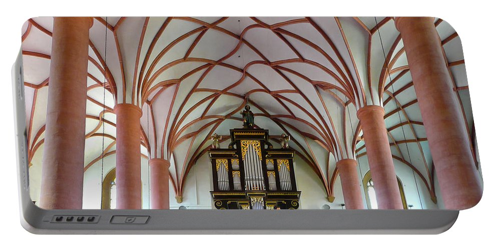 Organ Portable Battery Charger featuring the photograph Villach Organ by Jenny Setchell