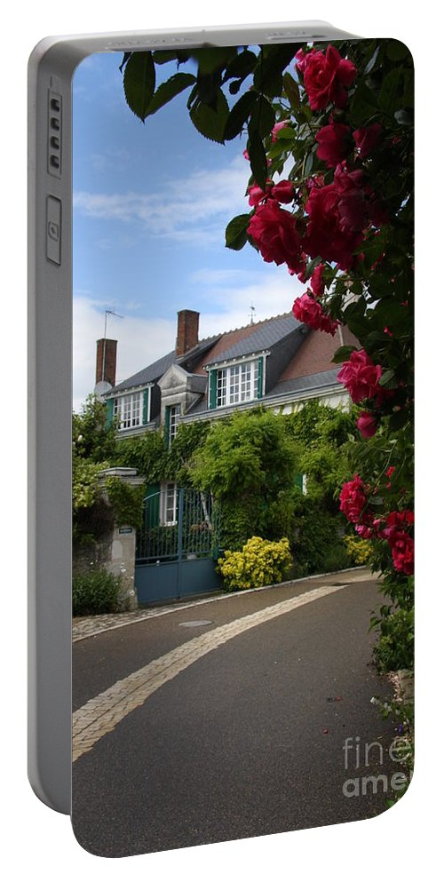 Village Portable Battery Charger featuring the photograph Ville De Fleur - France by Christiane Schulze Art And Photography