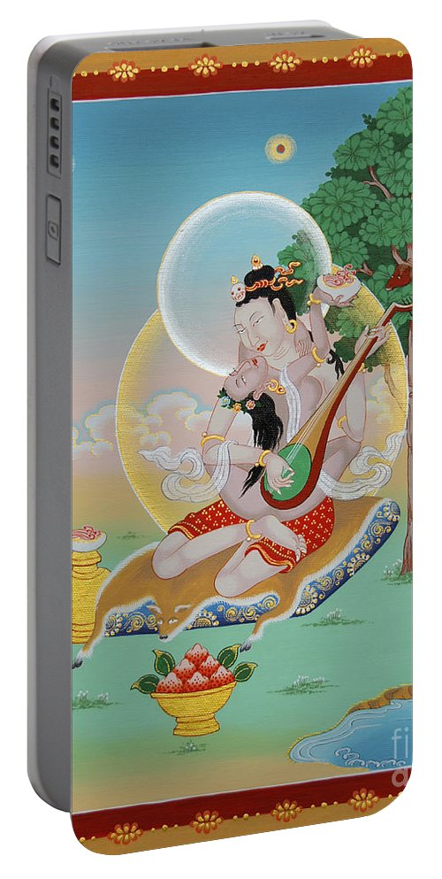 Vinapa Portable Battery Charger featuring the painting Vinapa Mahasiddha by Sergey Noskov