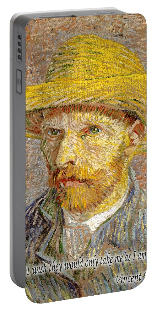 Van Gogh Portable Battery Charger featuring the photograph Vincent Van Gogh Quotes 6 by Andrew Fare