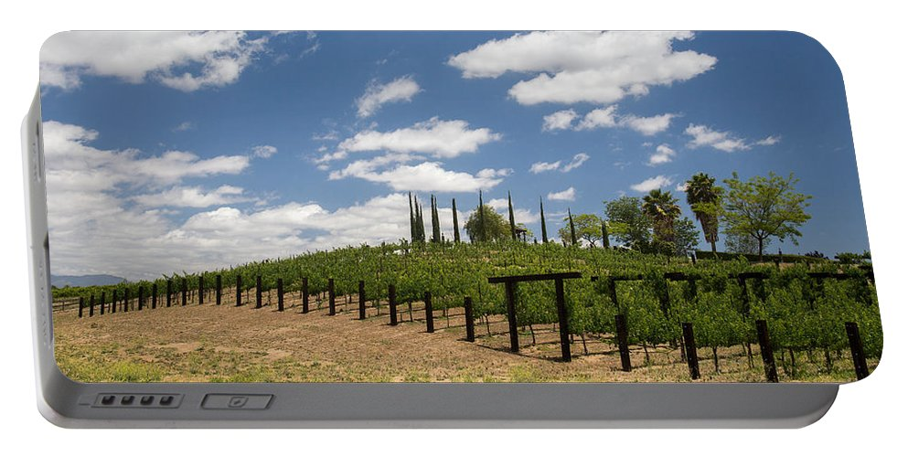 Barbed Wire Portable Battery Charger featuring the photograph Vine No Hollywood by Peter Tellone