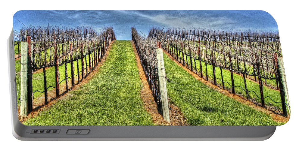 Bay Portable Battery Charger featuring the photograph Vineyard Bodega Bay by SC Heffner