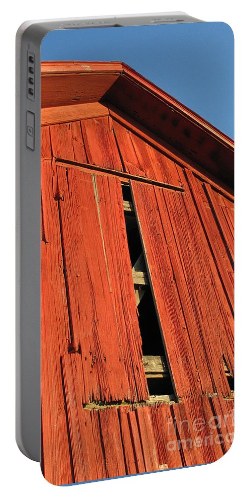 Barn Portable Battery Charger featuring the photograph Vintage Barn Aglow by Ann Horn