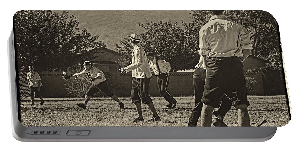 Vintage Baseball Portable Battery Charger featuring the photograph Vintage Baseball by Priscilla Burgers