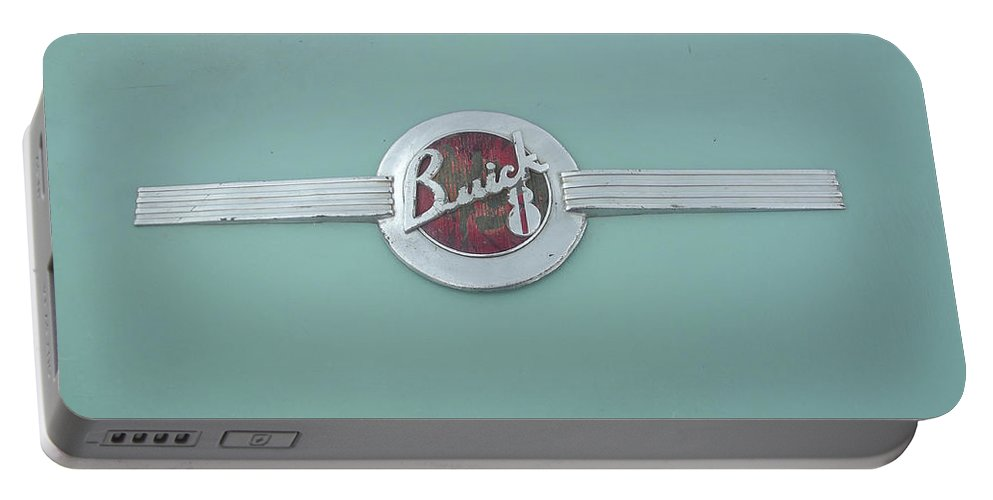 Buick Portable Battery Charger featuring the photograph Vintage Buick Emblem by Jennifer Lavigne
