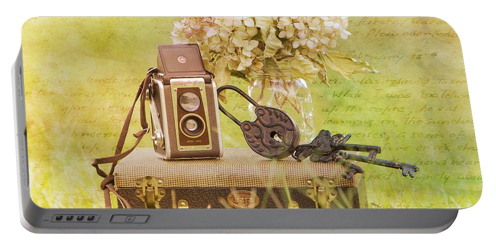 Vintage Portable Battery Charger featuring the photograph Vintage Camera And Case by Joan McCool