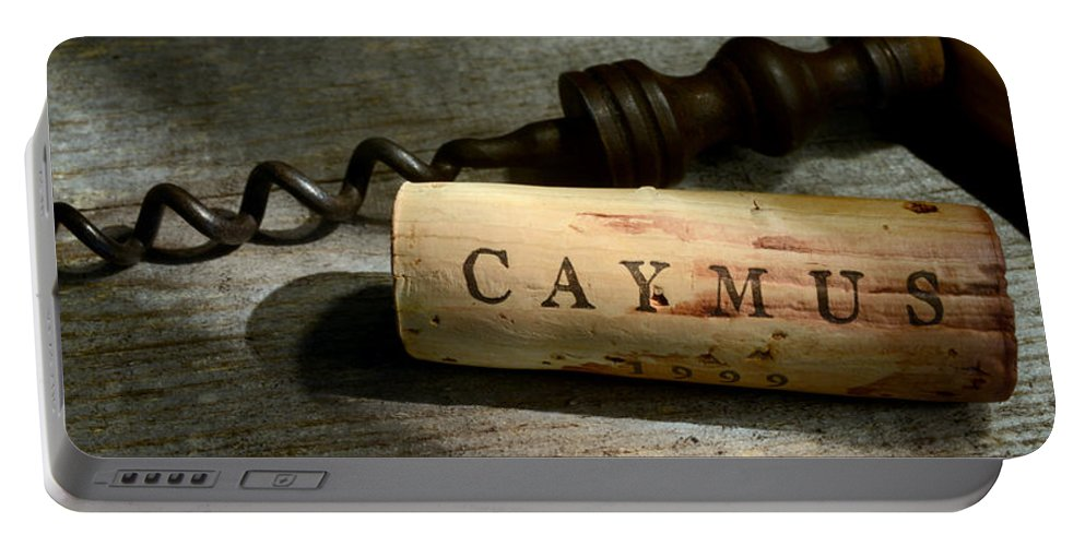 Wine Portable Battery Charger featuring the photograph Vintage Camus by Jon Neidert