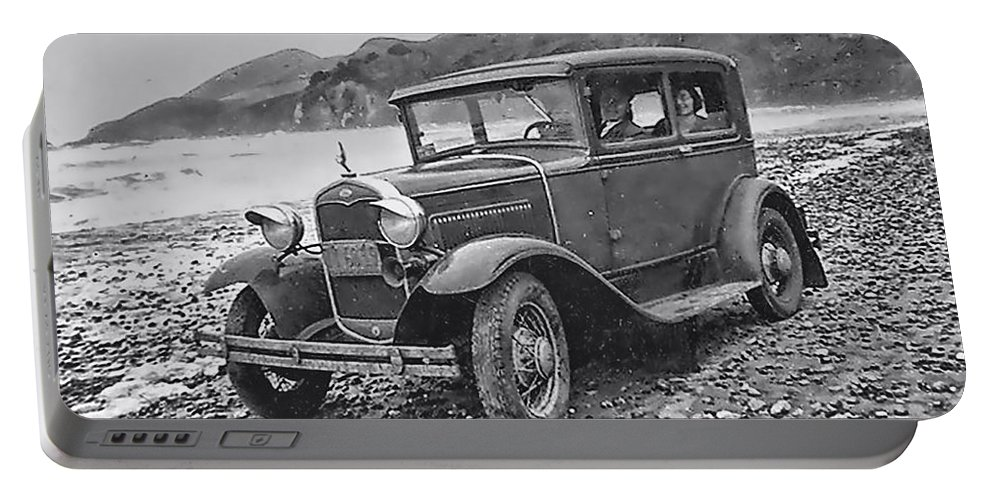 Vintage Photo Portable Battery Charger featuring the photograph Vintage Car by Cathy Anderson