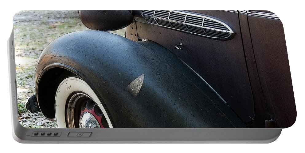 Horizontal Portable Battery Charger featuring the photograph Vintage Chrysler Automobile Poster Look I Usa by Sally Rockefeller