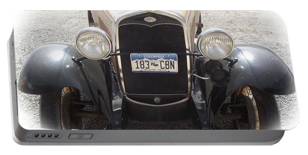Ford Portable Battery Charger featuring the photograph Vintage Ford by Jennifer Lavigne