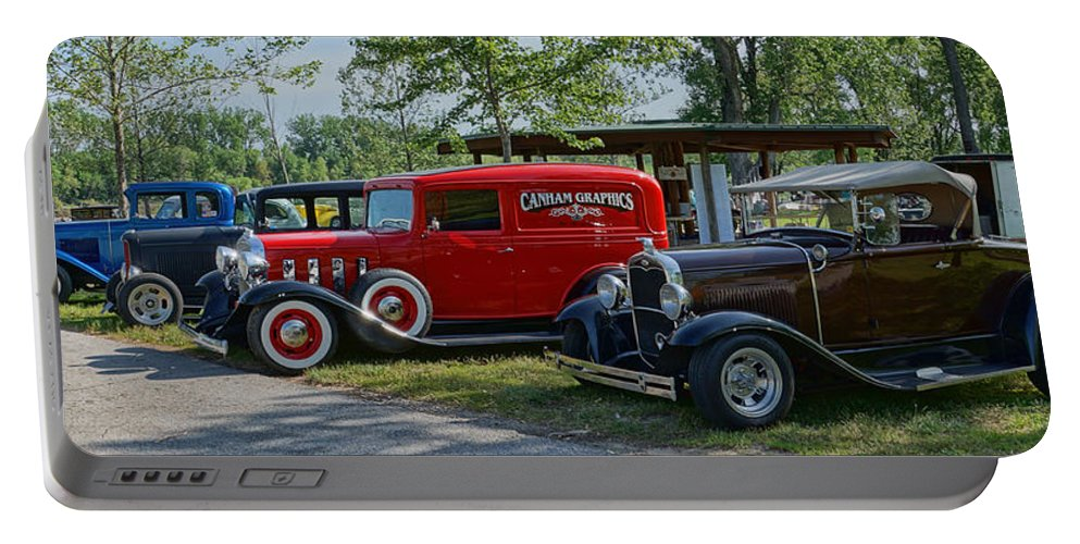 Vintage Portable Battery Charger featuring the photograph Vintage Hot Rods by Alan Hutchins