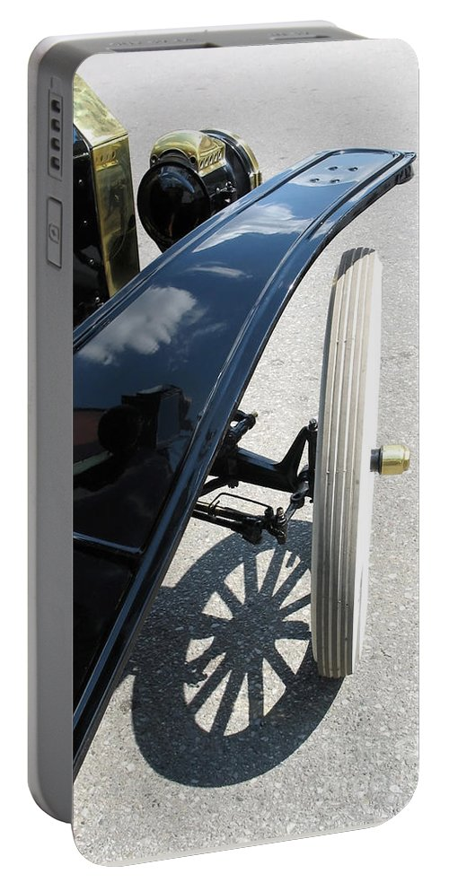 Model T Portable Battery Charger featuring the photograph Vintage Model T by Ann Horn