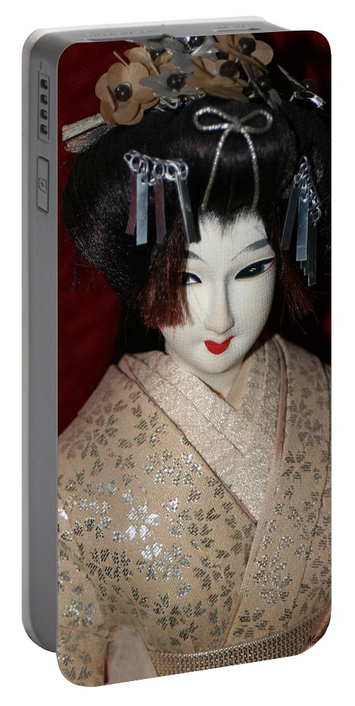 Nishi Doll Portable Battery Charger featuring the photograph Vintage Nishi Doll by Mechala Matthews