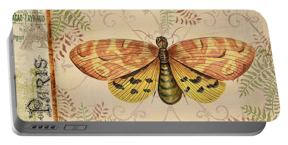 Digital Portable Battery Charger featuring the painting Vintage Wings-paris-c by Jean Plout