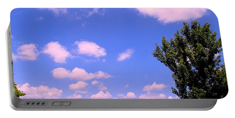 Clouds Portable Battery Charger featuring the photograph Violet Edge by Kendall Kessler