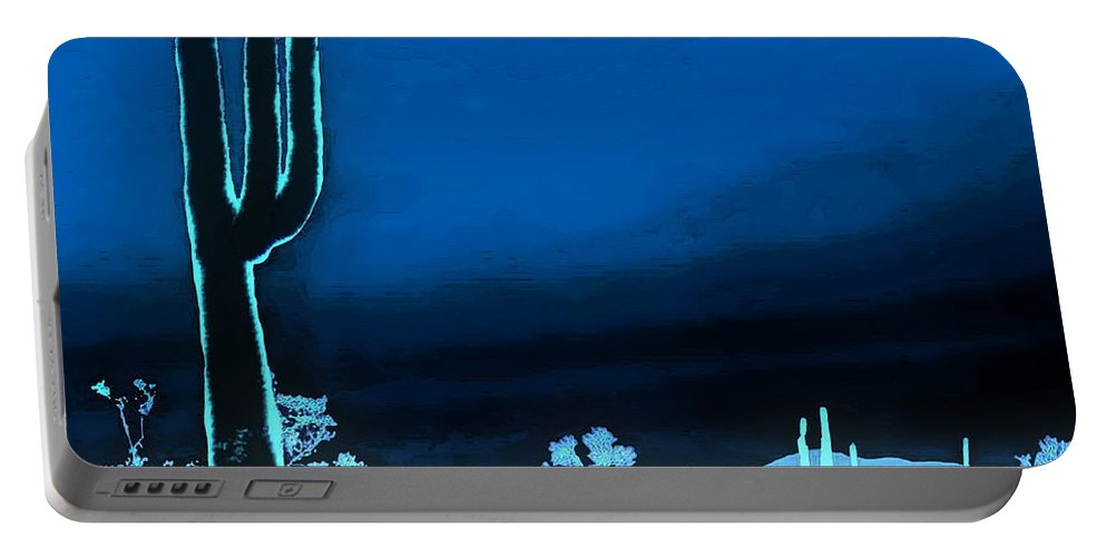 Digital Clone Painting Portable Battery Charger featuring the digital art Vision Of A Desert Night by Tim Richards