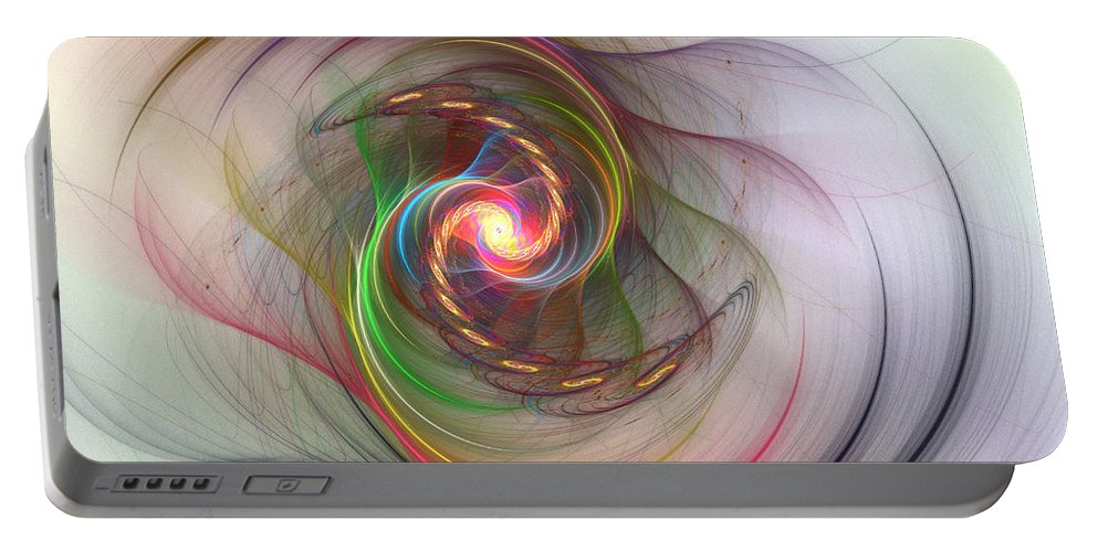 Rainbow Portable Battery Charger featuring the digital art Visions by Kiki Art