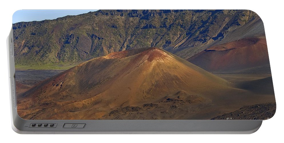 Volcanic Cone Crater Cone Craters Volcano Volcanos Haleakala National Park Volcano Area Maui Hawaii Landscape Landscapes Parks Mountain Mountains Landmark Landmarks Portable Battery Charger featuring the photograph Volcanic Cone by Bob Phillips