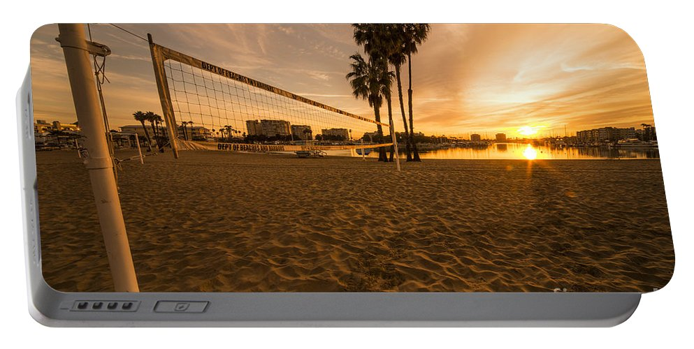 Portable Battery Charger featuring the photograph Volley Sunrise by Rob Hawkins