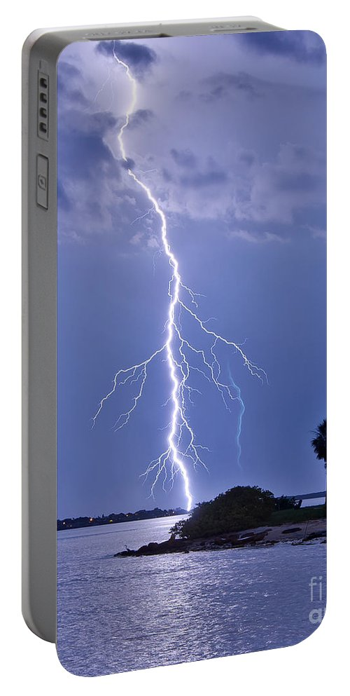 Florida Portable Battery Charger featuring the photograph Voltage by Stephen Whalen